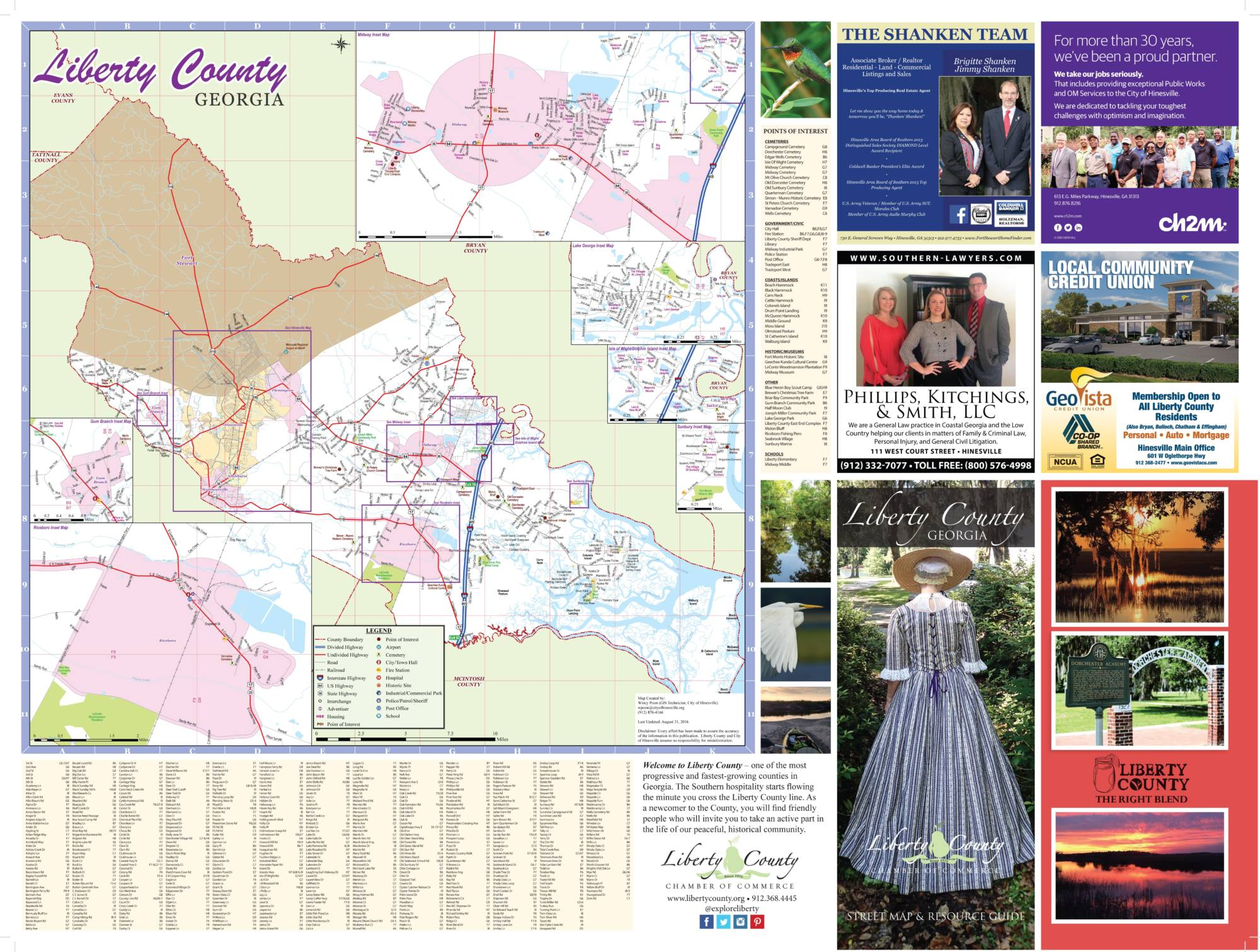 Liberty County Map 2016