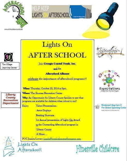Join Georgia Coastal Youth, Inc. And The Afterschool Alliance In  Celebrating The Importance Of An Afterschool Program.