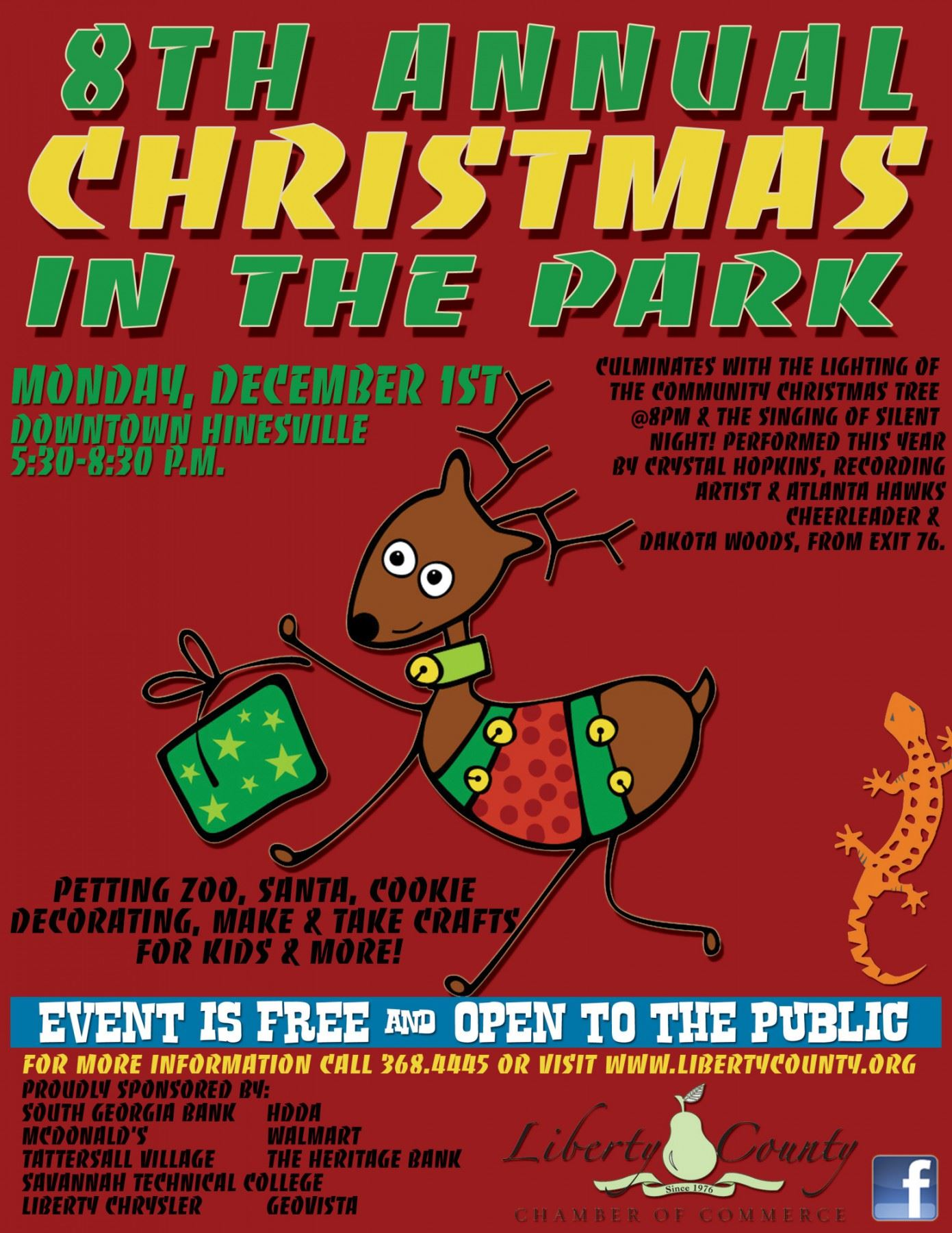 the liberty county chamber of commerce lccoc and liberty convention and visitors bureau cvb will host the 8th annual christmas in the park on monday - When Does Christmas In The Park Open