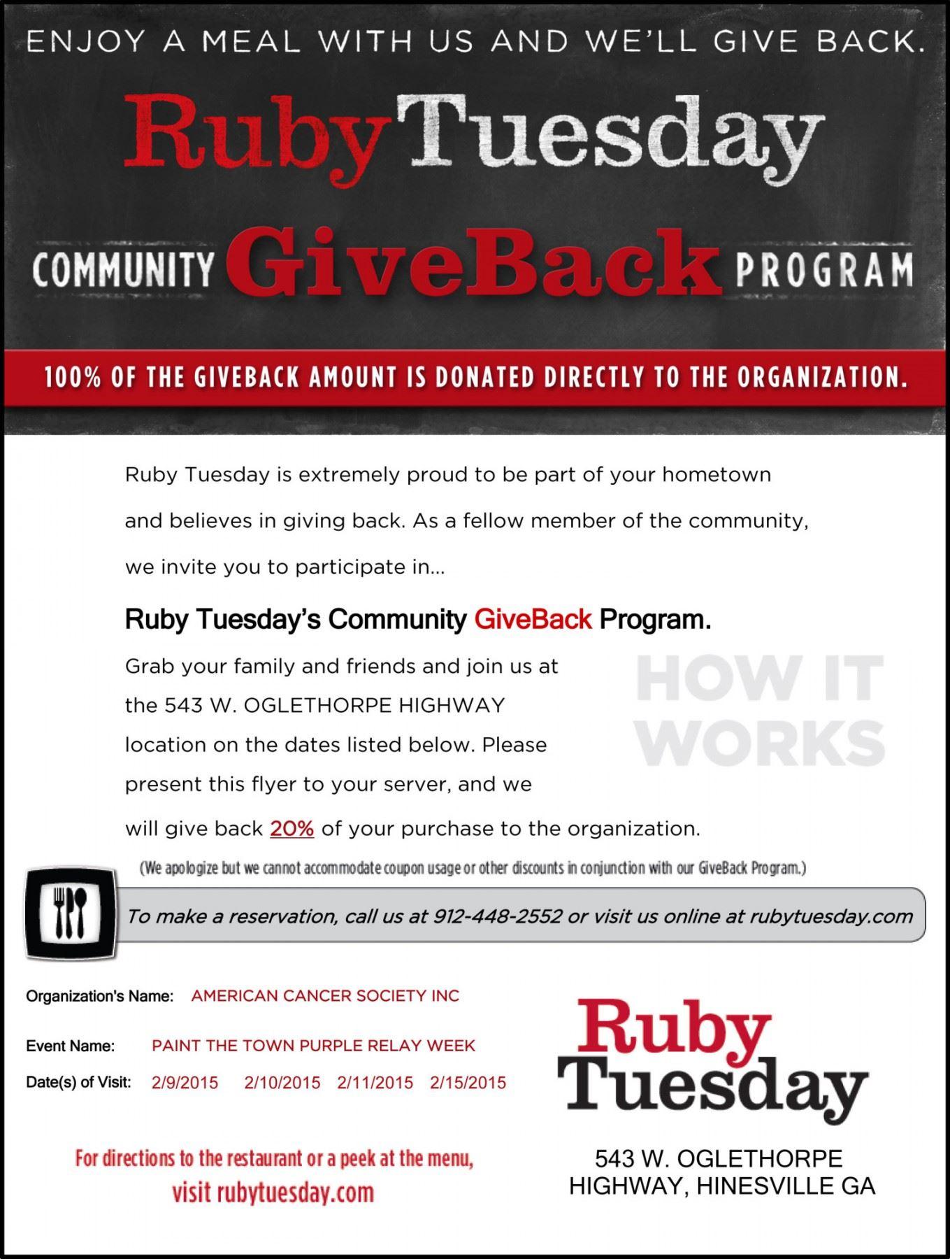 Relay for Life FundraiserLiberty County, Georgia | Hospitality, Commerce