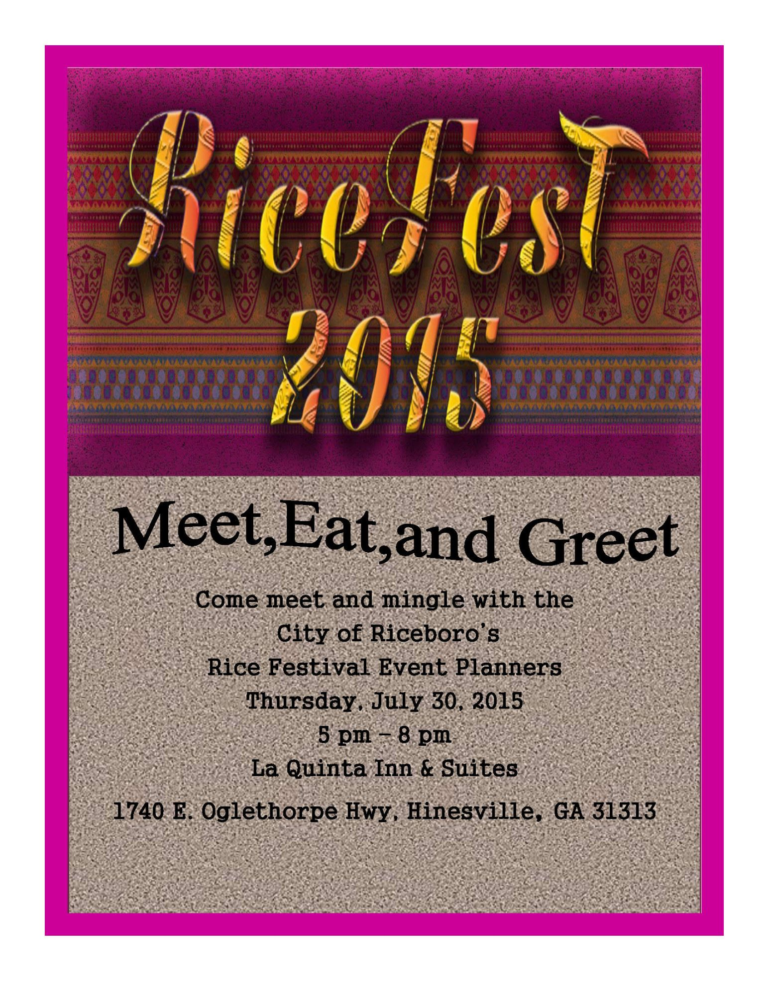 Ricefest 2015 Meet Eat And Greetliberty County Georgia