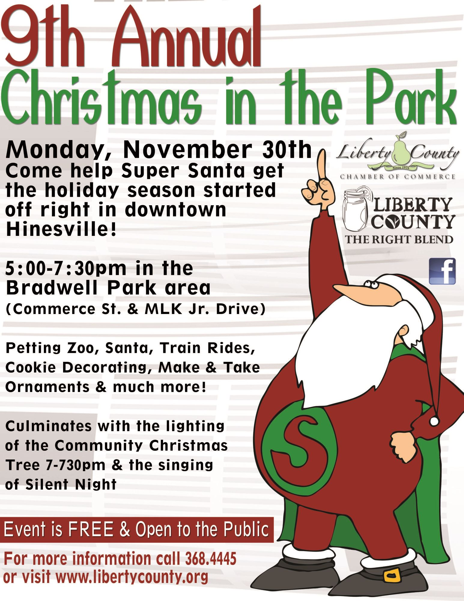 the liberty county chamber of commerce lccoc and liberty convention and visitors bureau cvb will host the 9th annual christmas in the park on monday - When Does Christmas In The Park Open