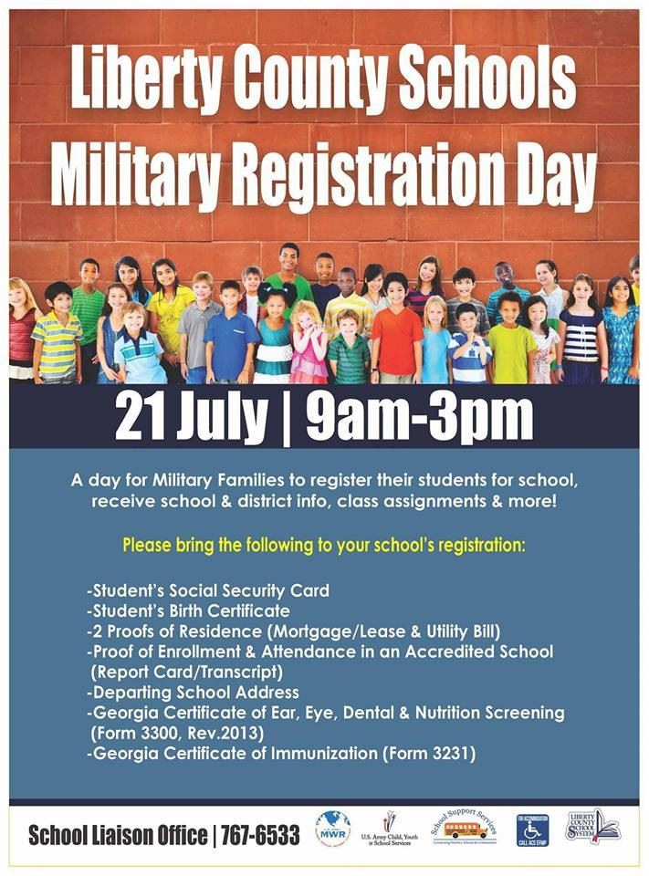 Liberty County Schools Military Registration Dayliberty County