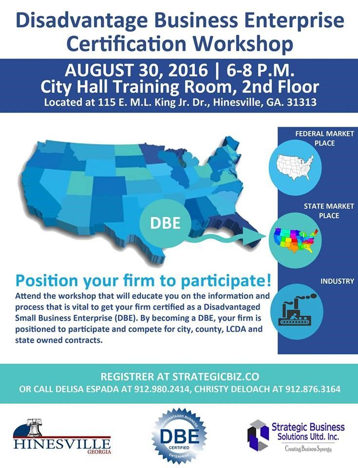 Disadvantage Business Enterprise Certification Workshopliberty