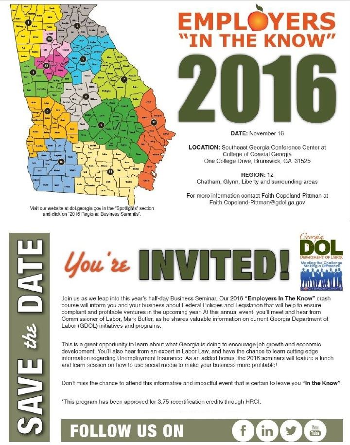 2016 Region 12 Business Summitliberty County Georgia Hospitality