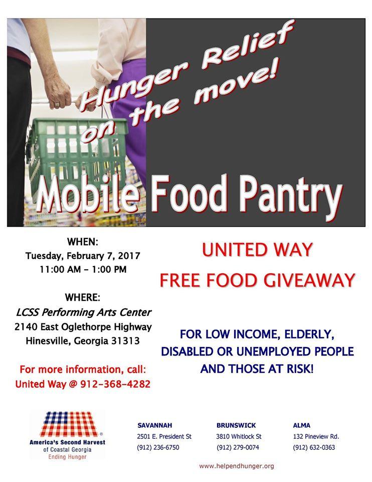 Food giveaway flyer
