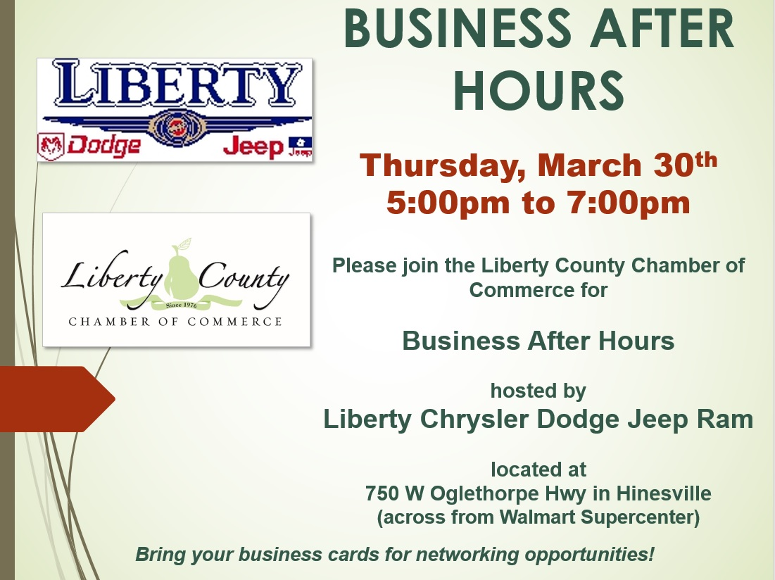 Business After Hours Hosted By Liberty Chrysler Dodge Jeep - Liberty chrysler dodge jeep