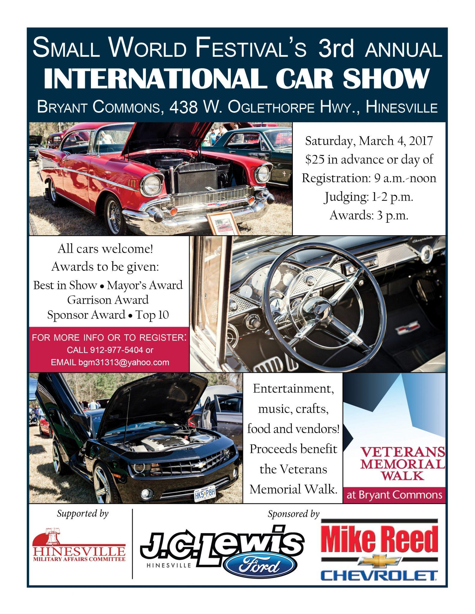 Rd Annual International Car Show At The Small World FestivalLiberty - Car show awards