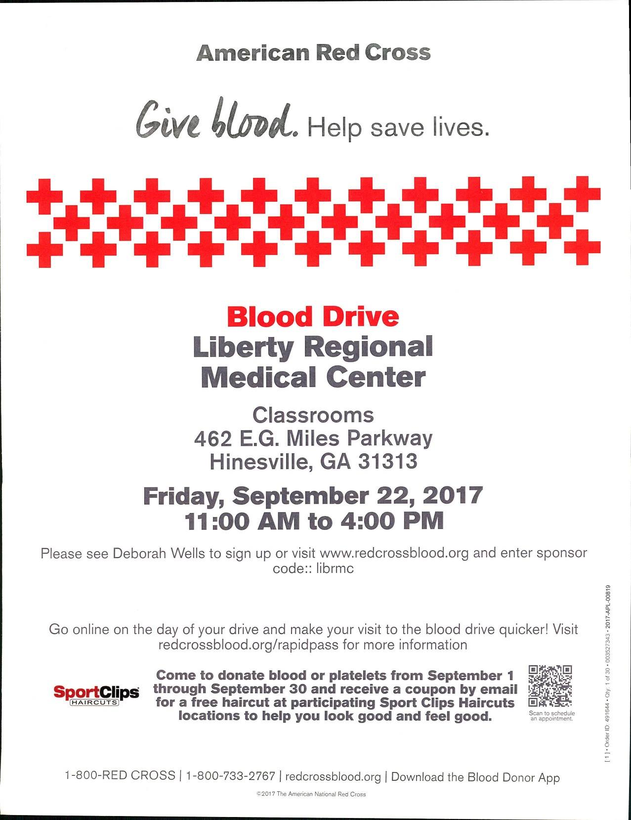Blood Drive At Liberty Regional Medical Centerliberty County