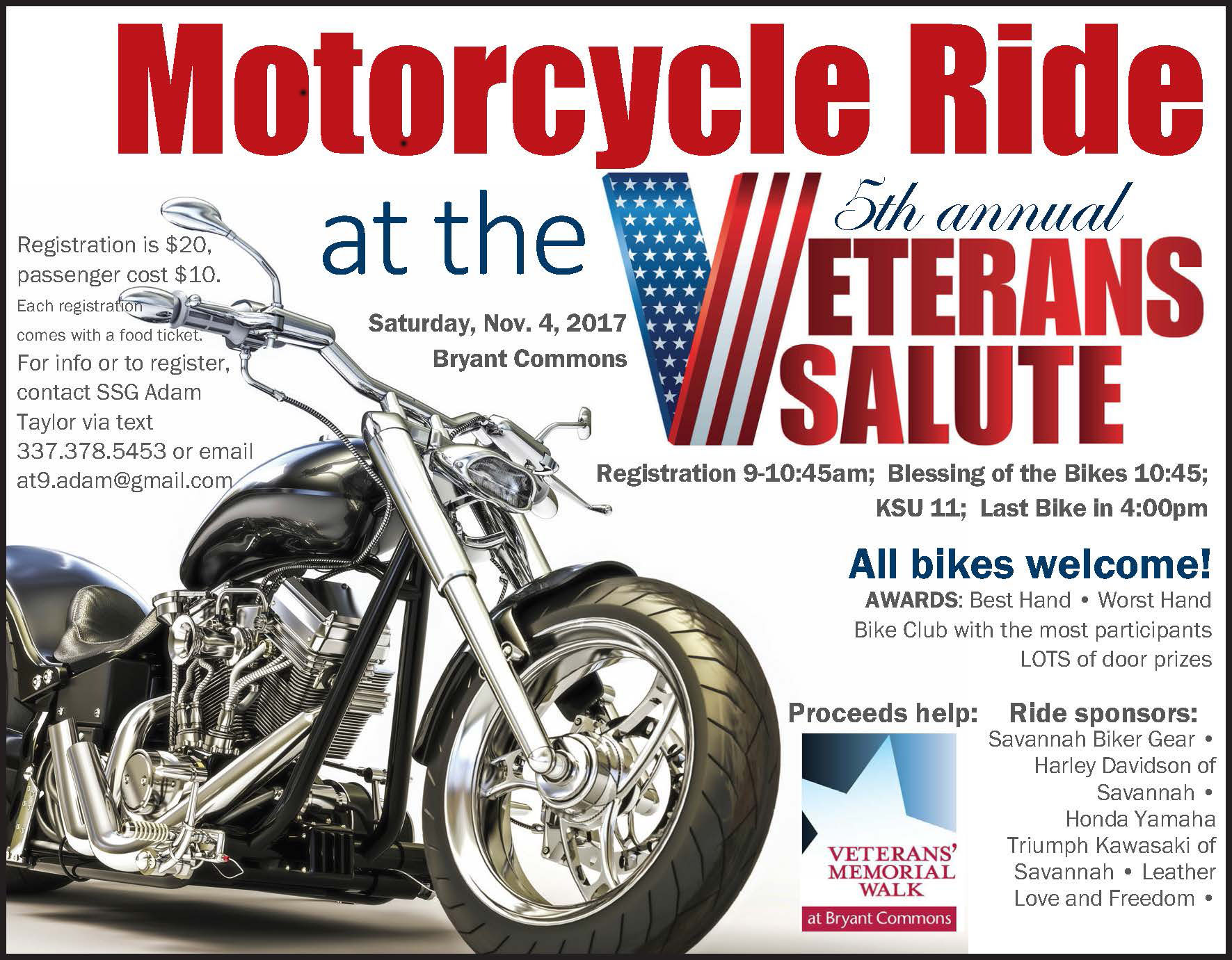 Motorcycle Poker Ride At The Veterans Salute