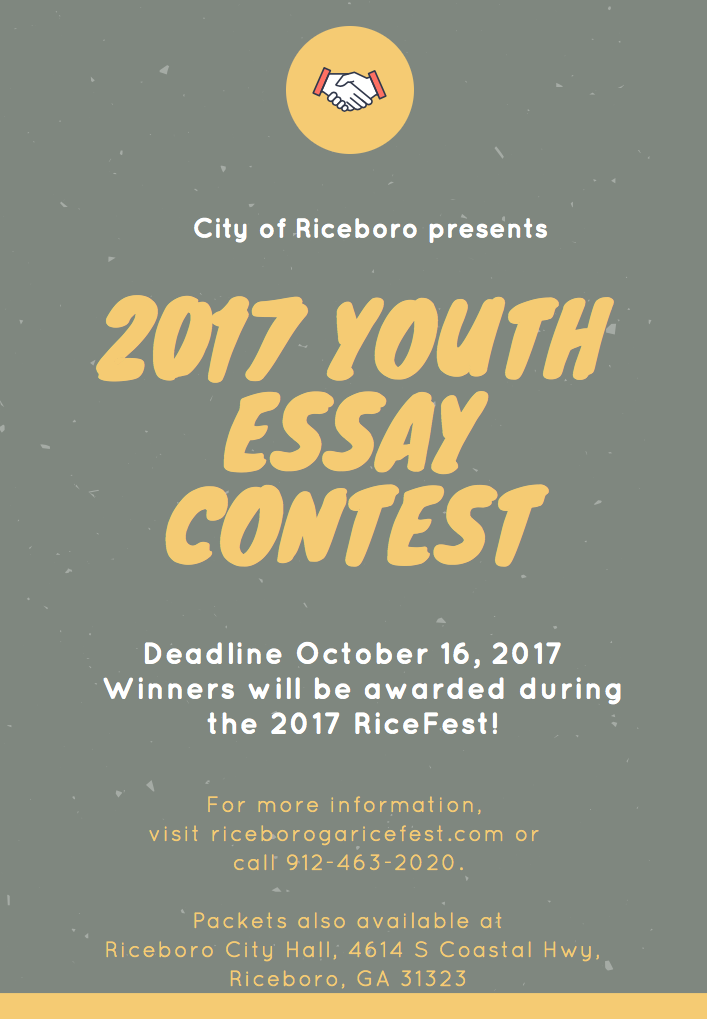ricefest youth essay contestliberty county hospitality  ricefest youth essay contest