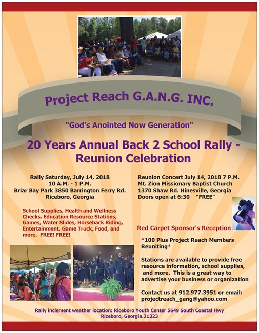 20th Annual Back to School Rally with Health & Wellness