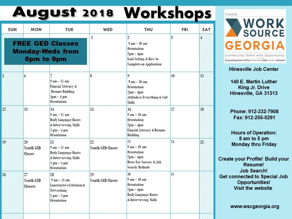 Financial Literacy & Resume Building WorkshopLiberty County, Georgia ...