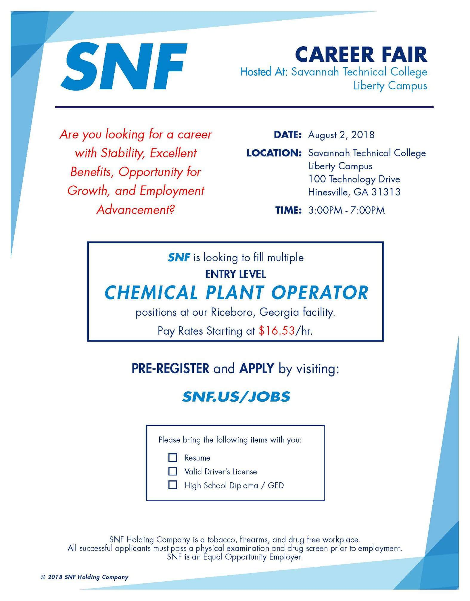 SNF Career FairLiberty County, Georgia | Hospitality, Commerce
