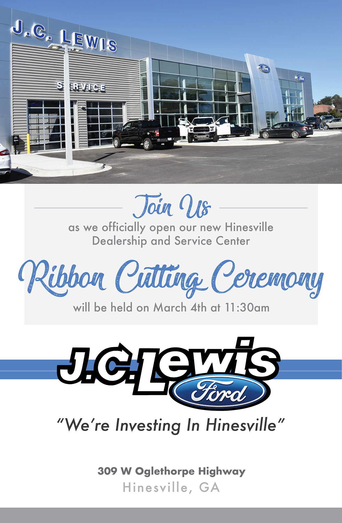 Jc Lewis Ford >> Ribbon Cutting Jc Lewis Ford Hinesvilleliberty County