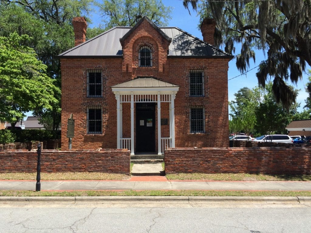 Front of the Old Liberty County Jail.