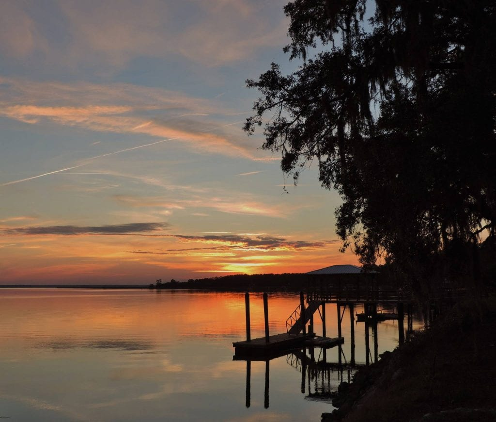 Liberty County, Georgia, sunset; photo by John Henderson