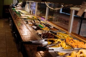 The buffet at Izola's Country Cafe.