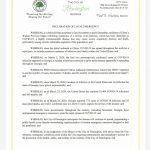 The City of Flemington Declaration of Local Emergency