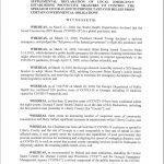 Board of Commissioners Declaration of Local Emergency