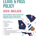 Fort Stewart/HAAF Leave & Pass Policy Updated May 22