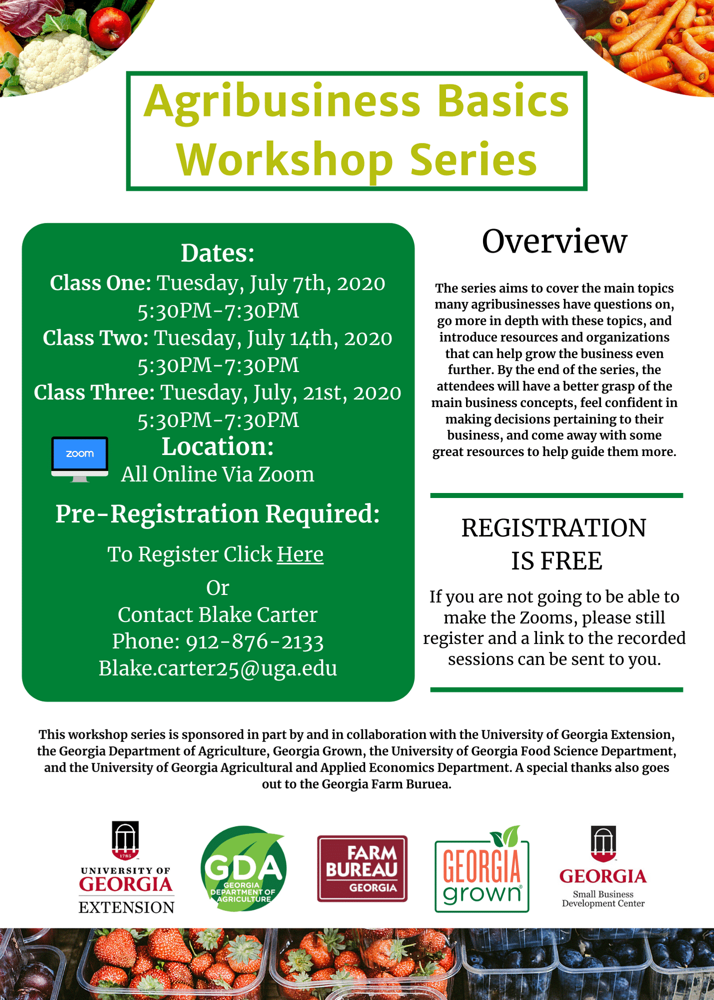 Agribusiness Basics Workshop Series