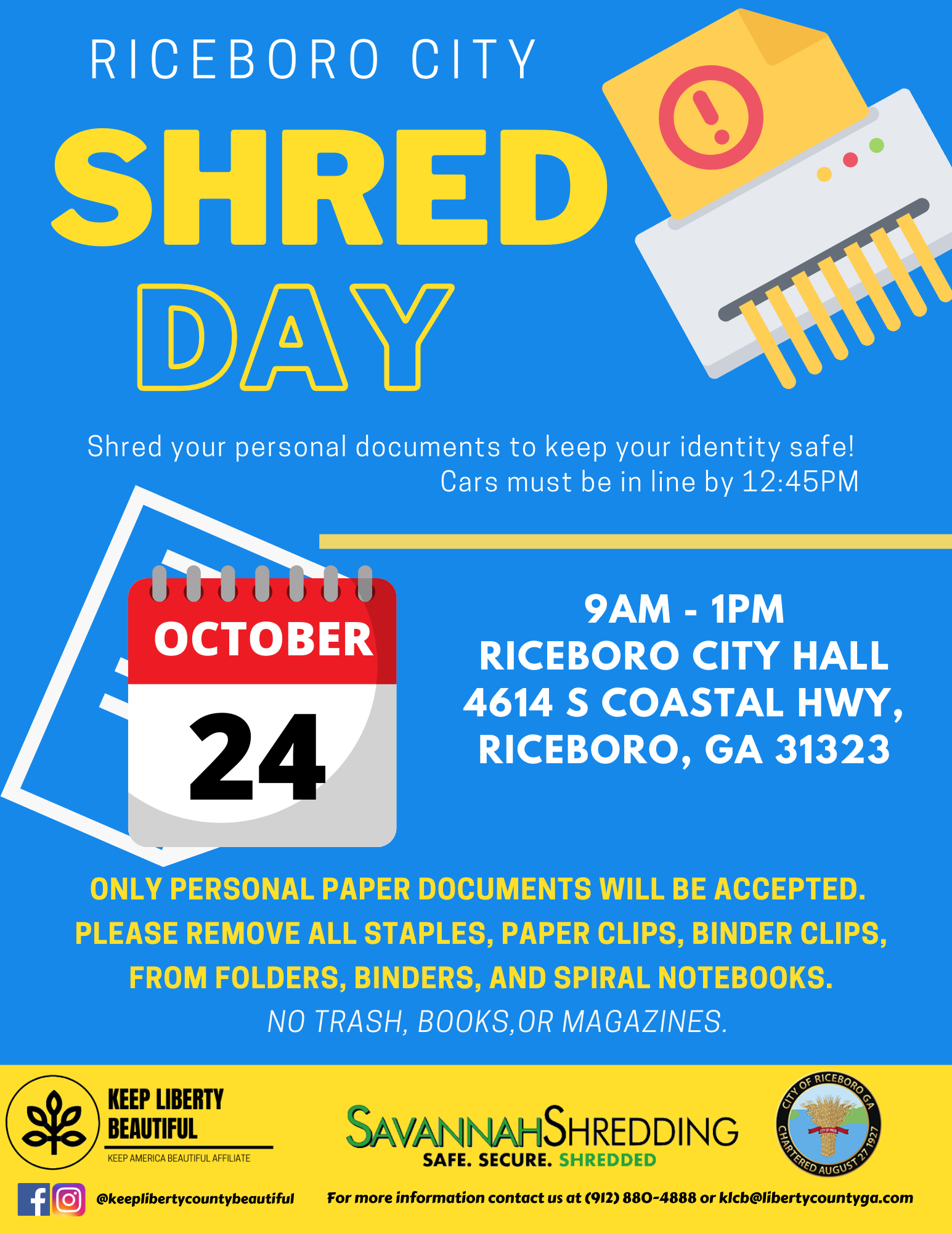 Riceboro shred day