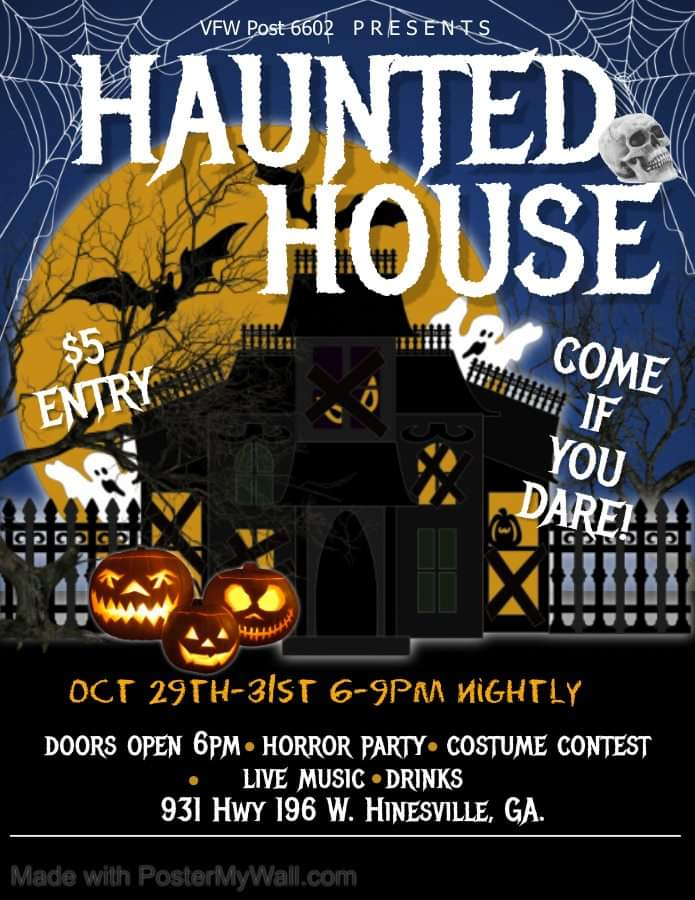 VFW Haunted House flyer