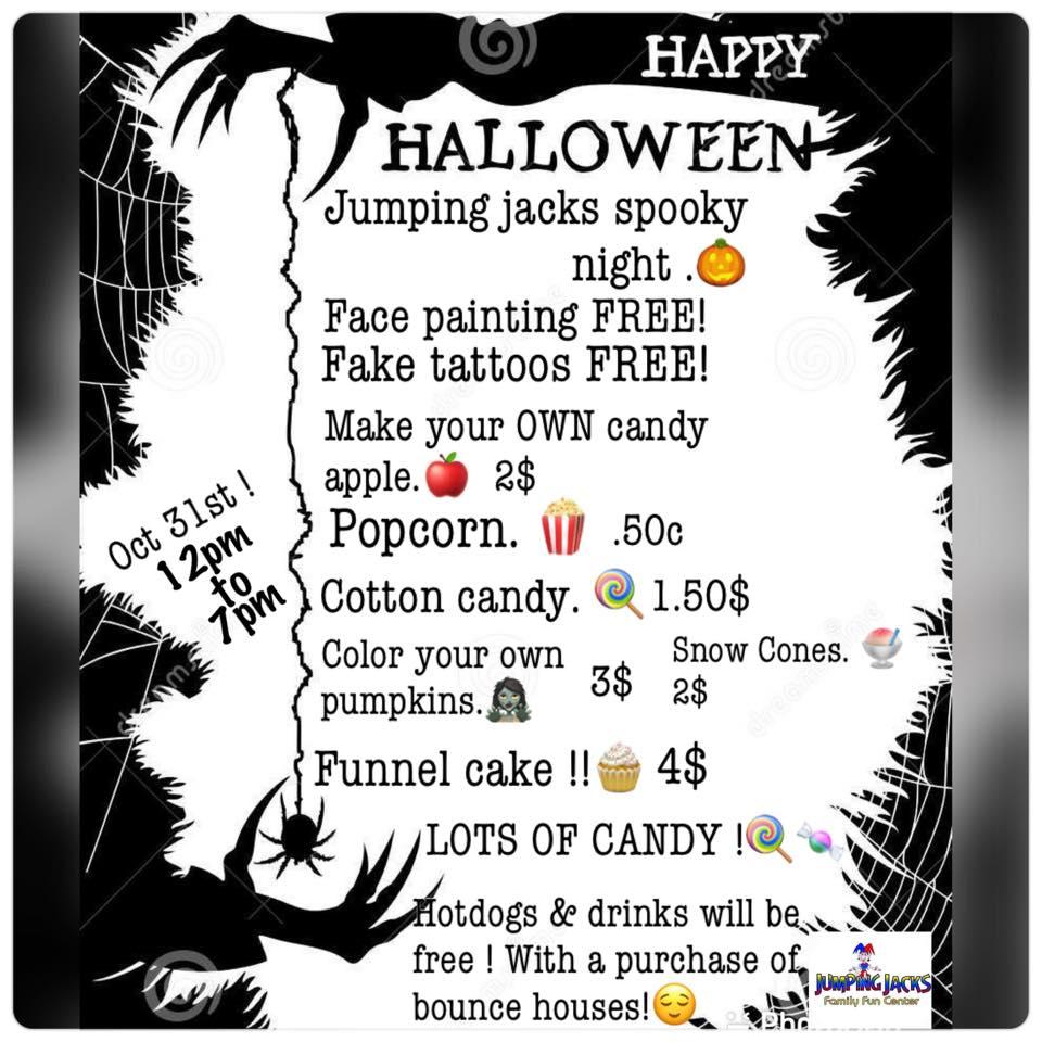 Jumping Jacks Spooky Halloween