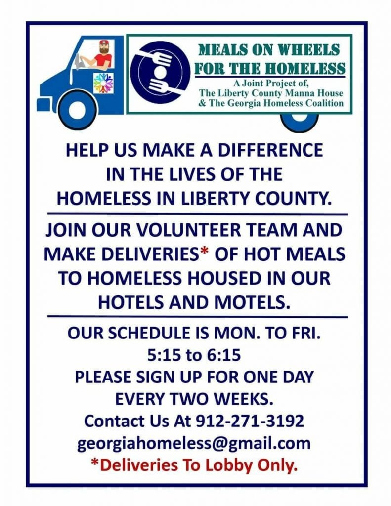 meals on wheels for the homeless