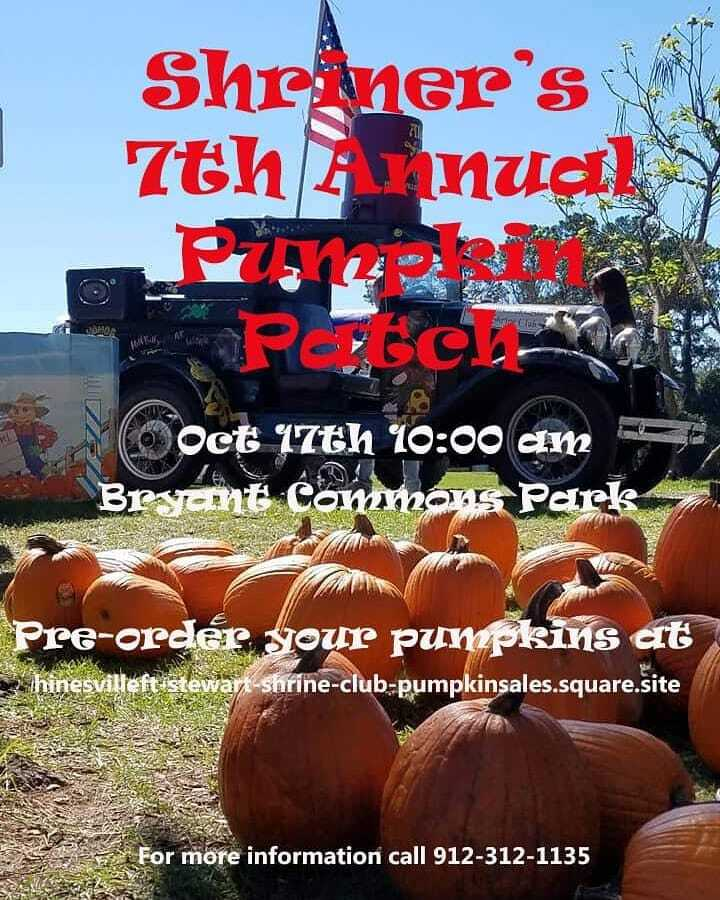 Shriner's 7th Annual Pumpkin Patch