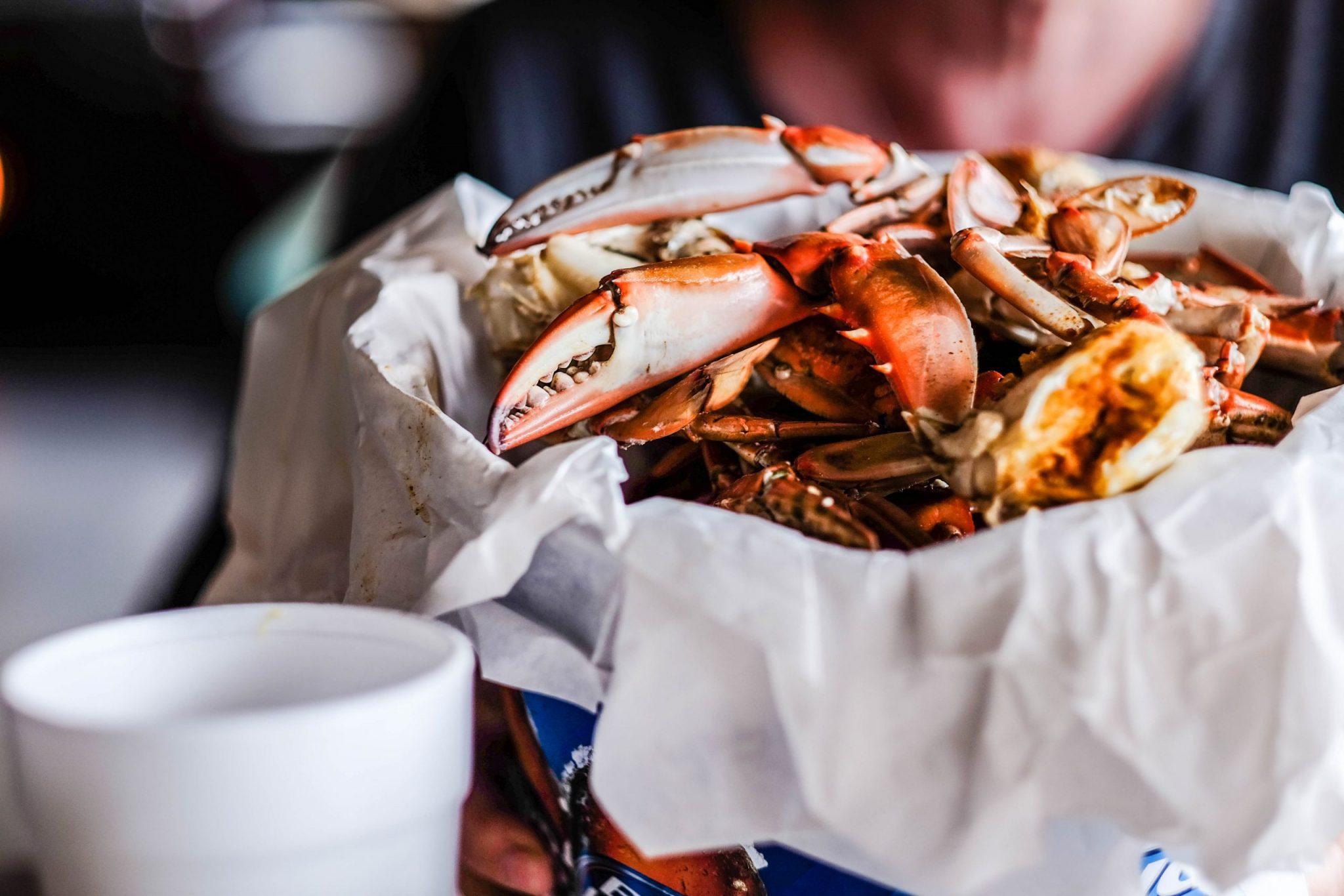 Crabs from Sunbury Crab Company