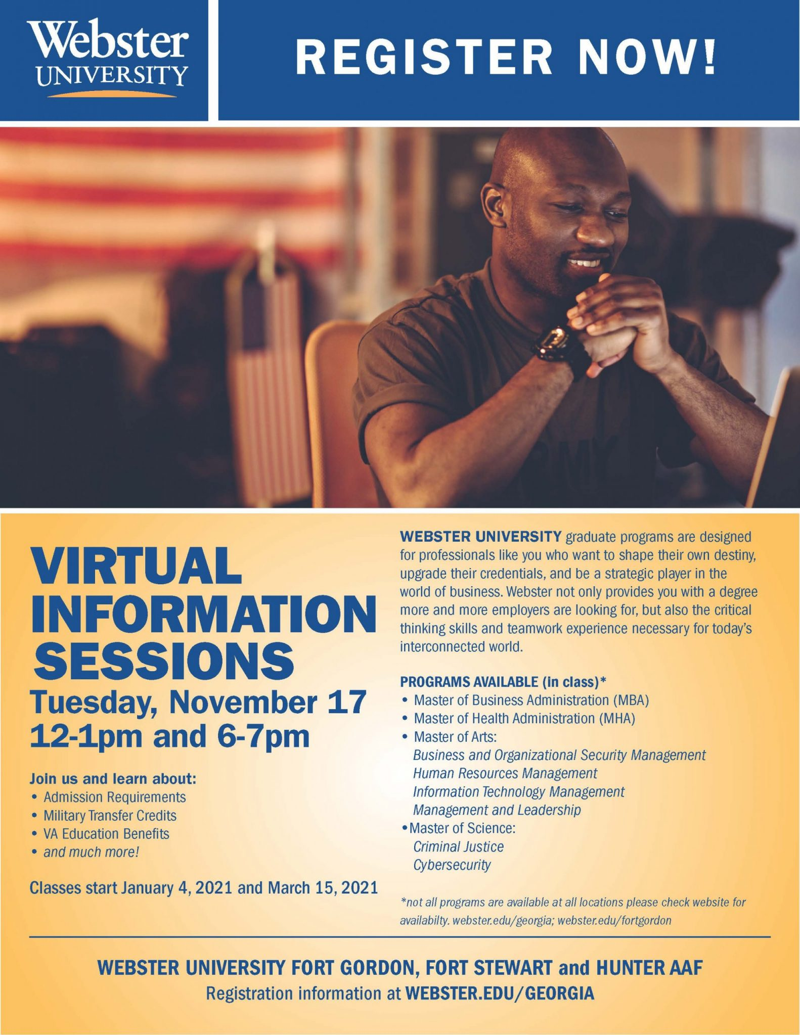 webster university virtual information sessions