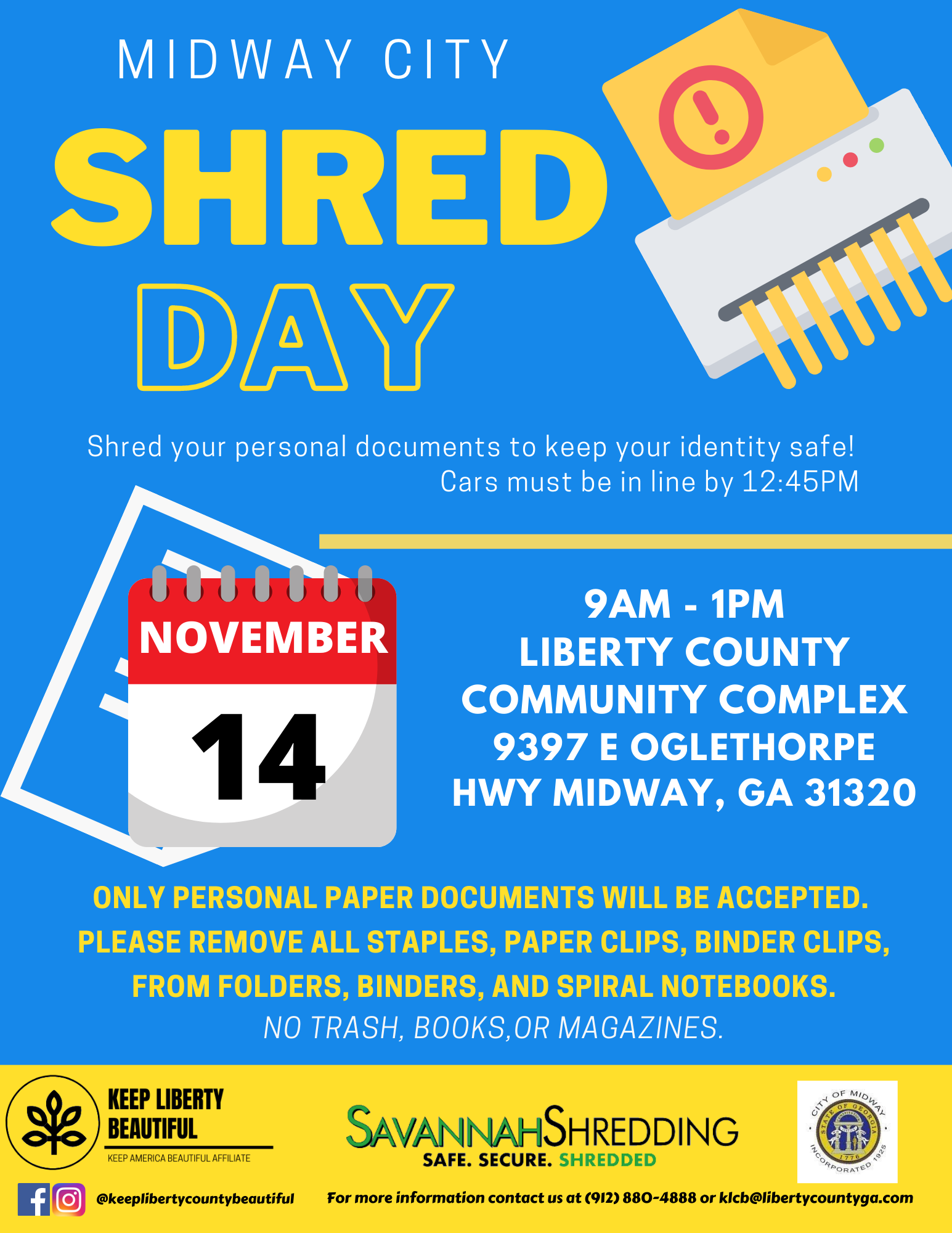 Shred day flyer