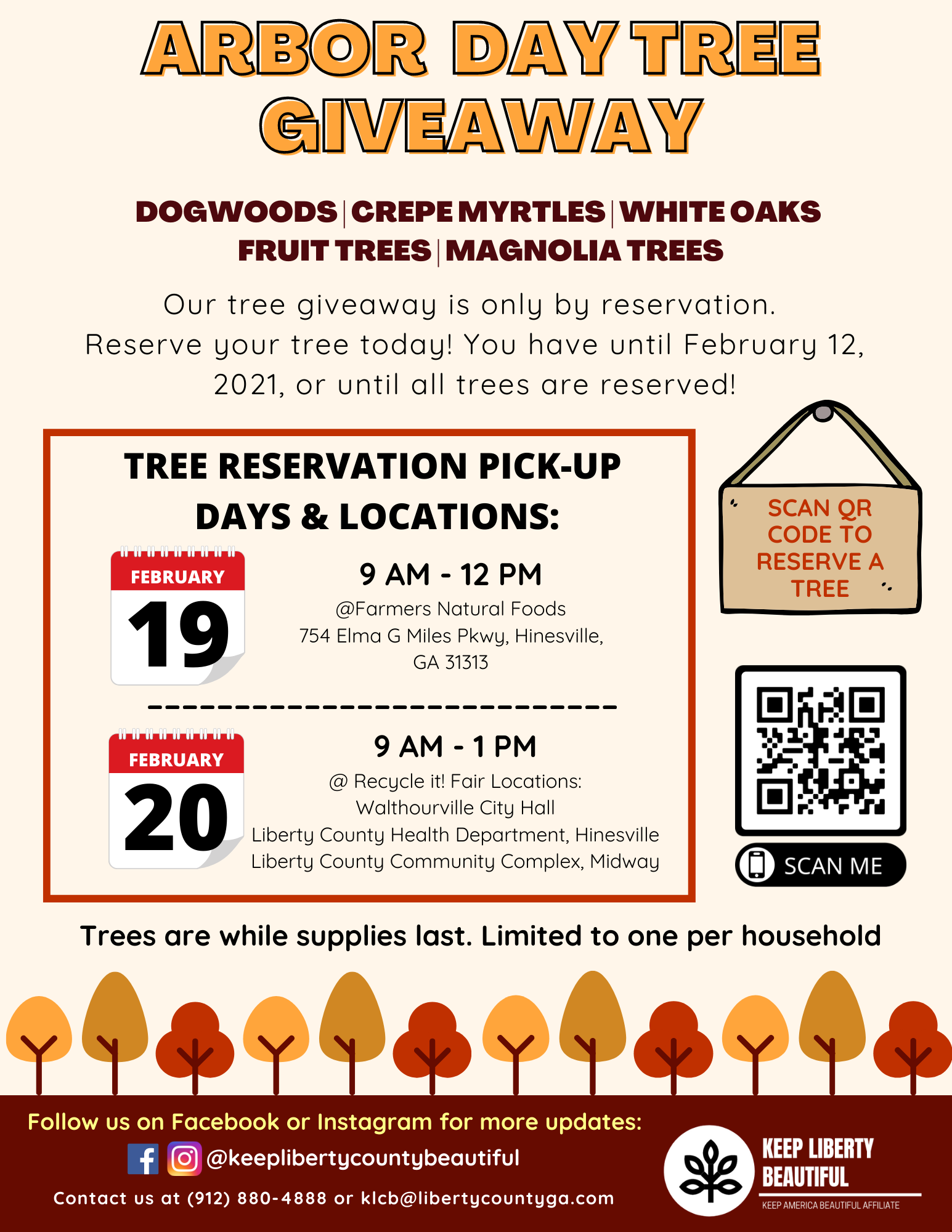 KLB Tree Giveaway Flyer