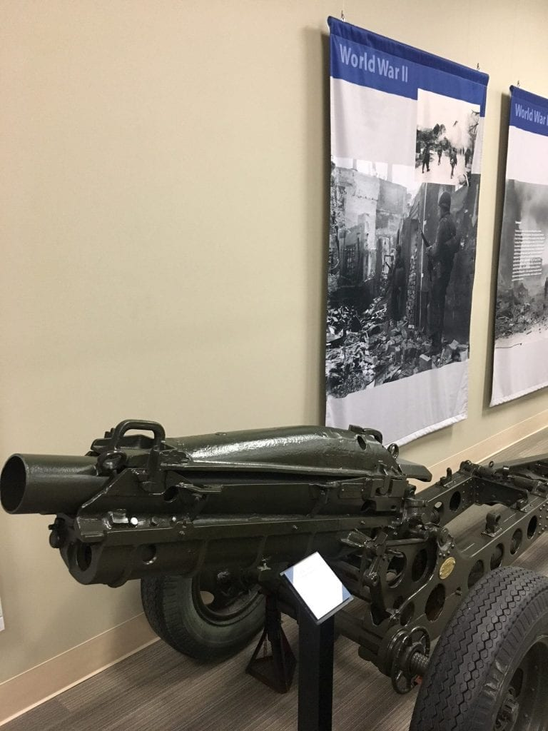 Inside the 3rd Infantry Division Museum on Fort Stewart
