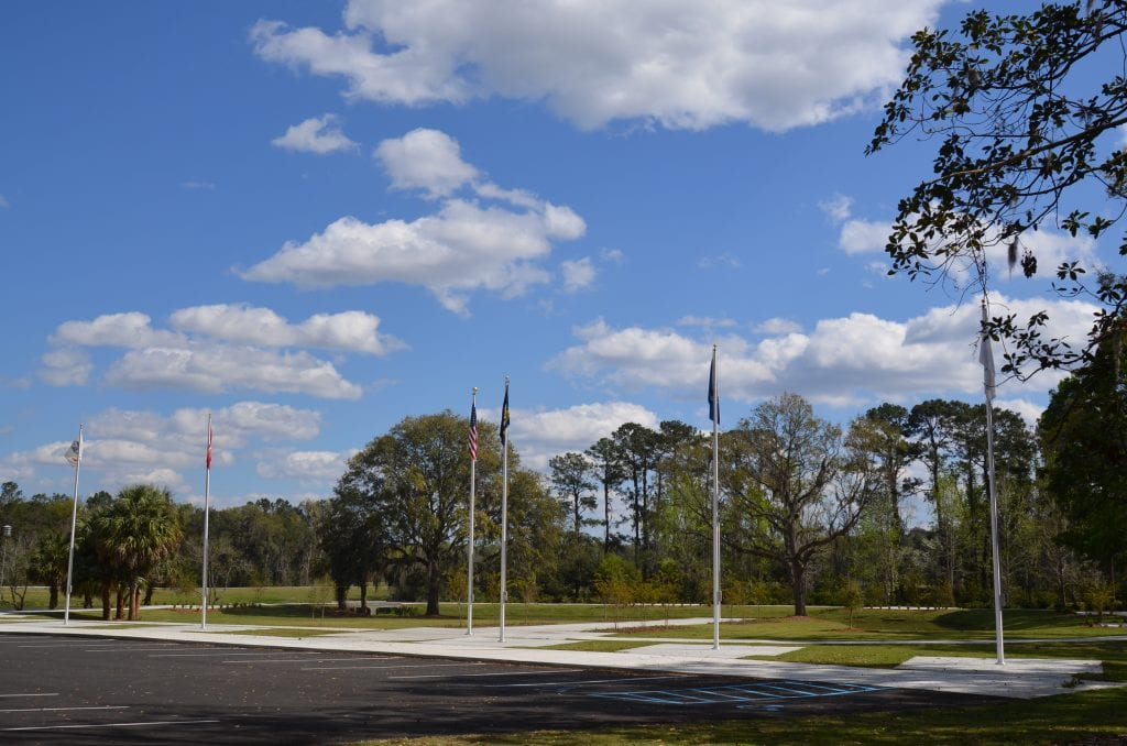 The Veterans Memorial Walk in HInesville, GA