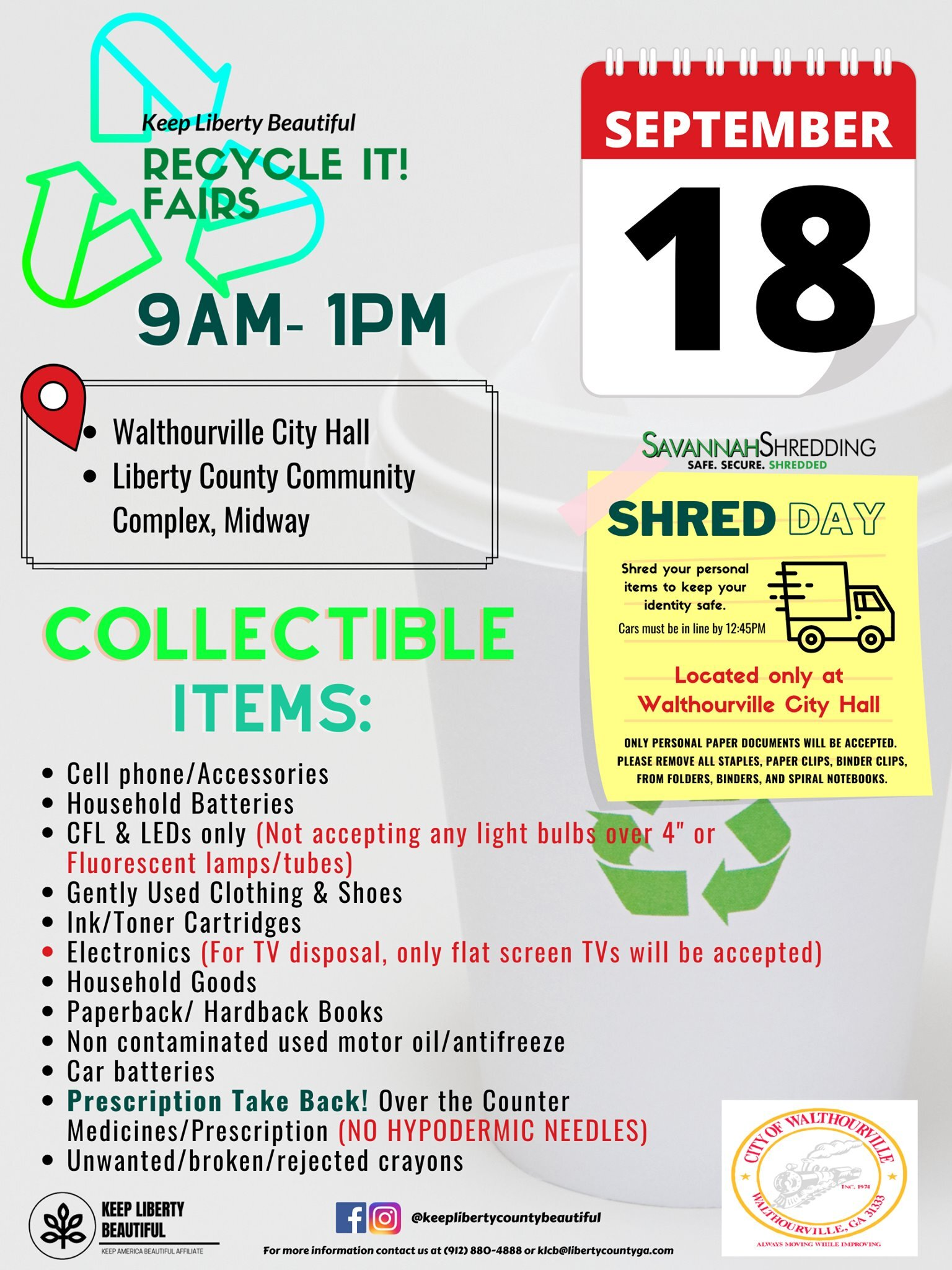 Recycle It! Fair flyer for Keep Liberty Beautiful