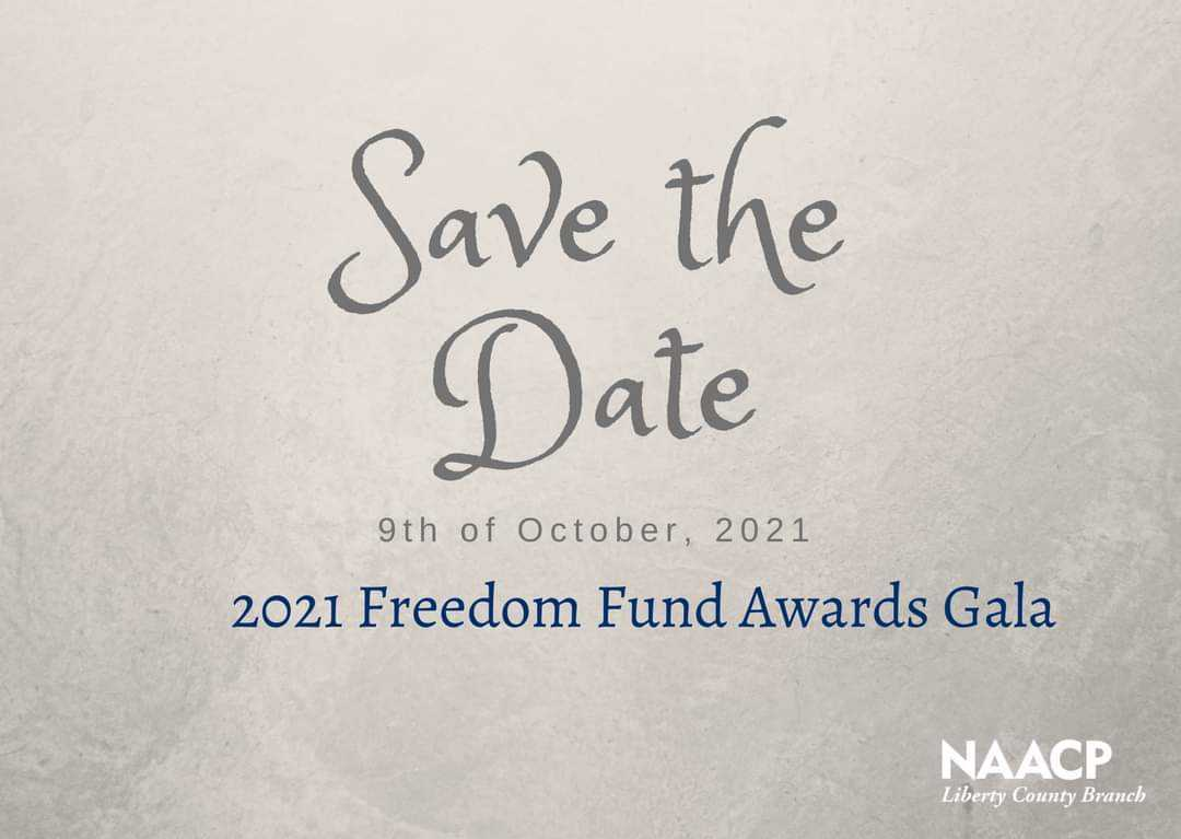 Flyer about Freedom Fund Gala