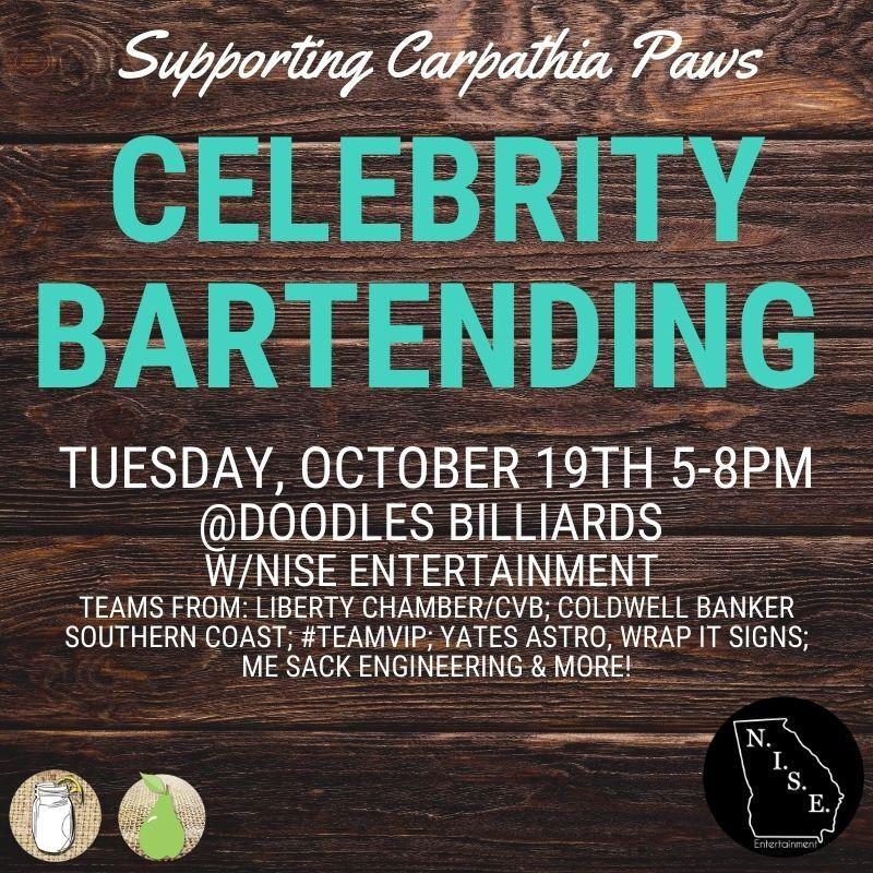 celebrity bartending