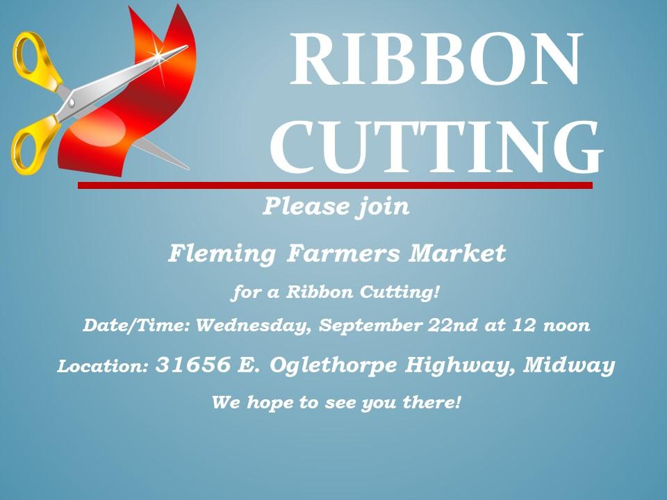 Ribbon Cutting for Fleming Farmers Market
