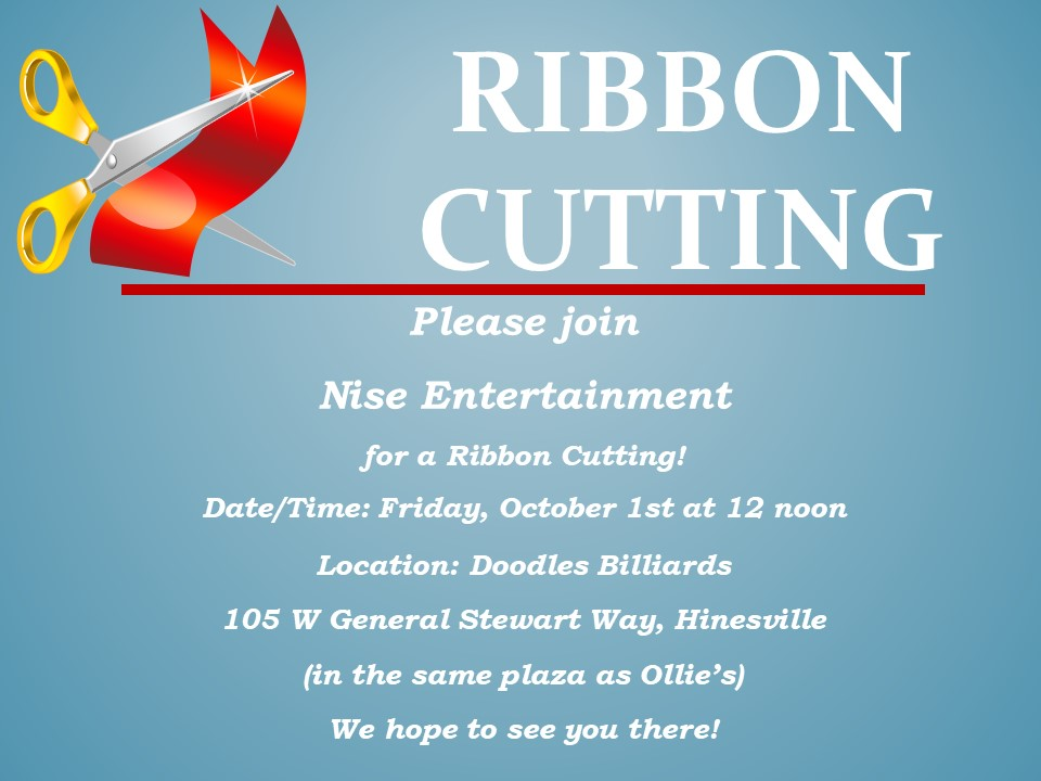 Nise Entertainment Ribbon Cutting