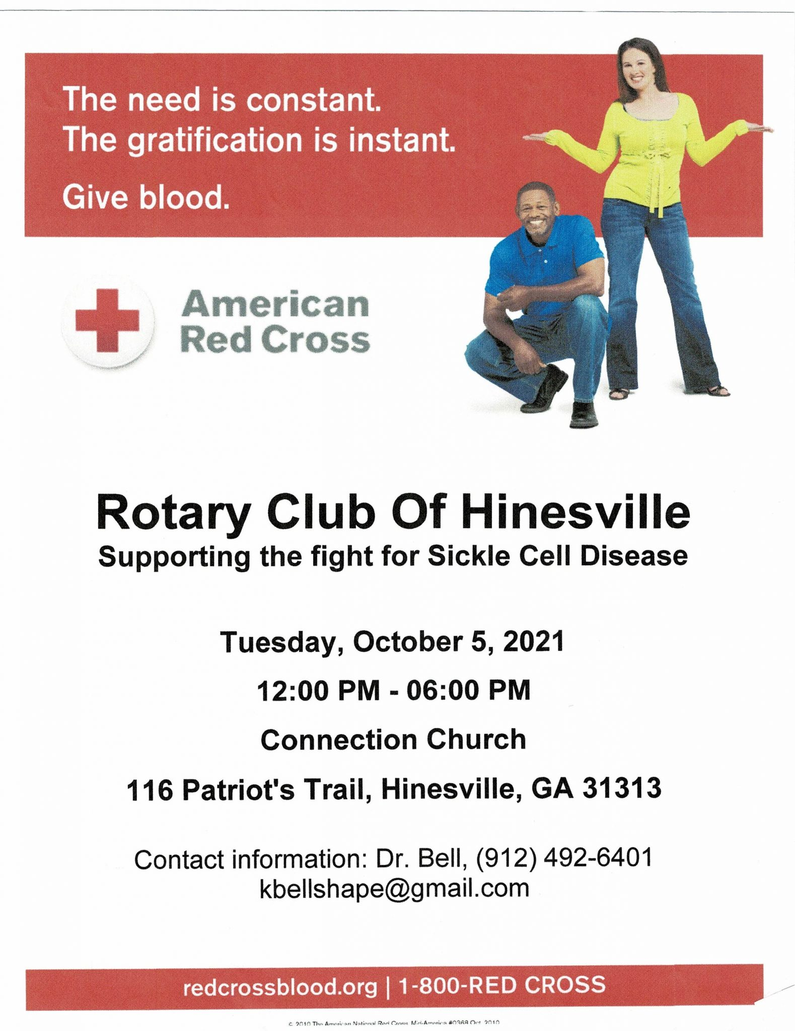 Rotary Club of Hinesville Blood Drive