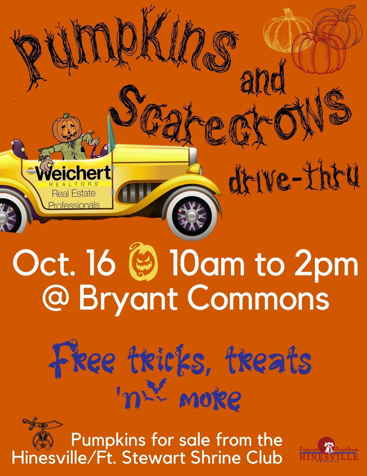 Pumpkins and Scarecrows Drive-Thru