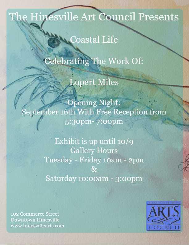 The Hinesville Art Council Presents Coastal Life