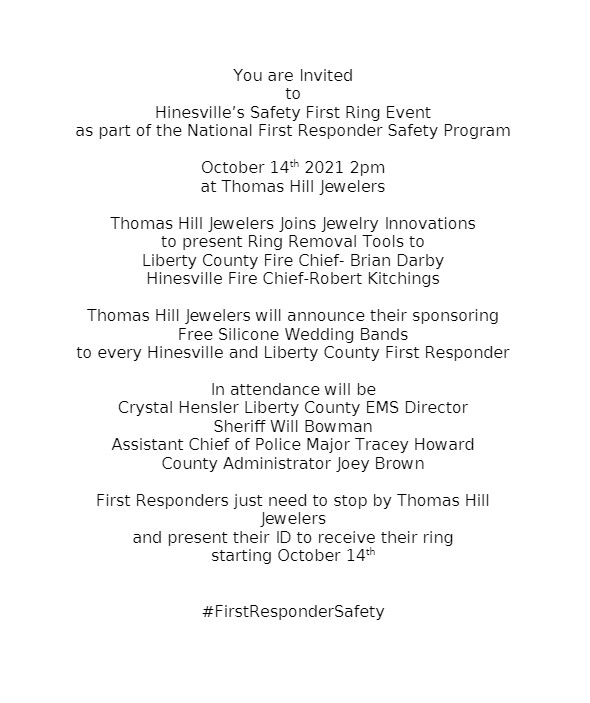 Hinesville's Safety First Ring Event