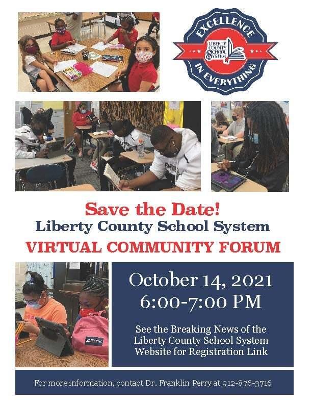 Liberty County School System Virtual Community Forum