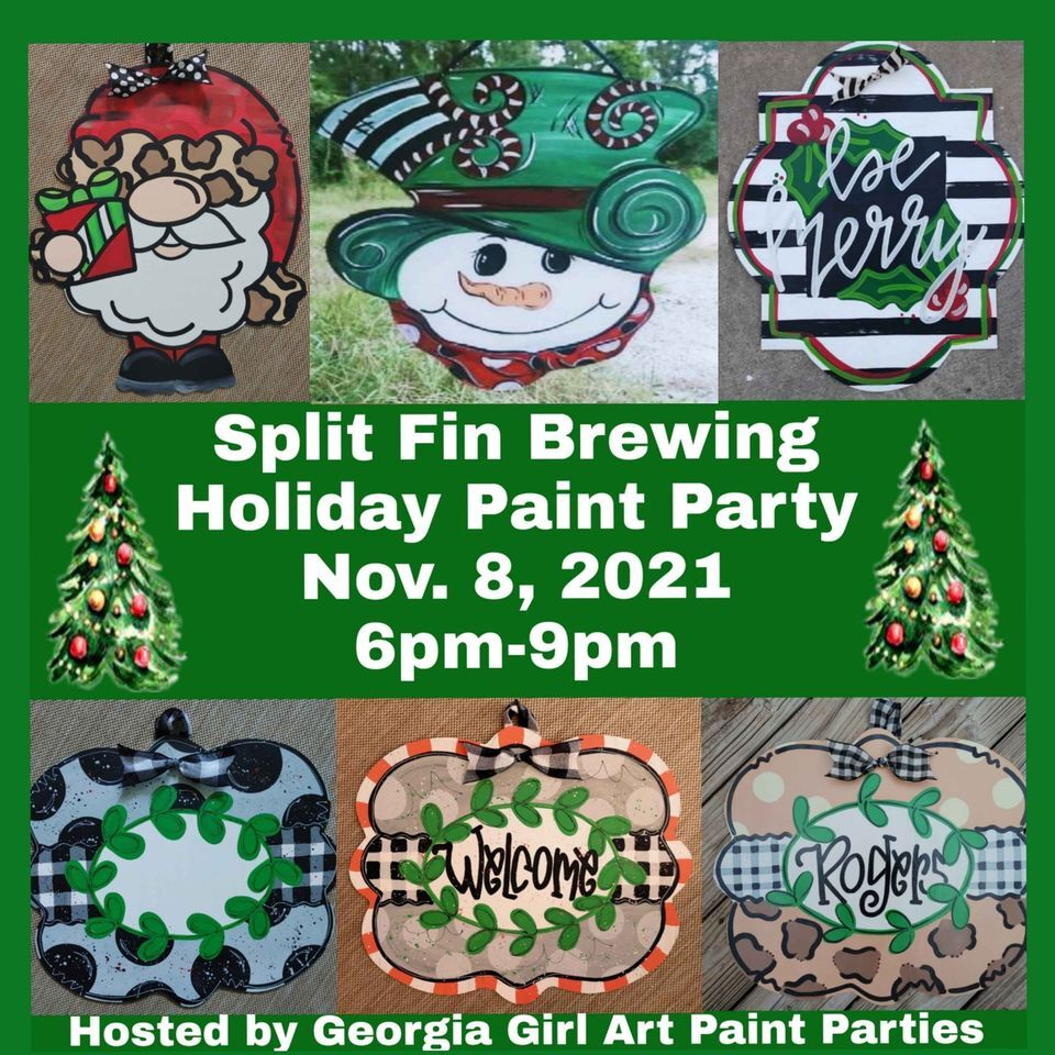 Holiday Paint Party at Split Fin