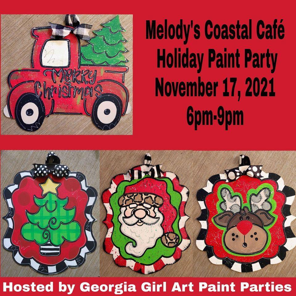 Melody's Coastal Café Holiday Paint Party