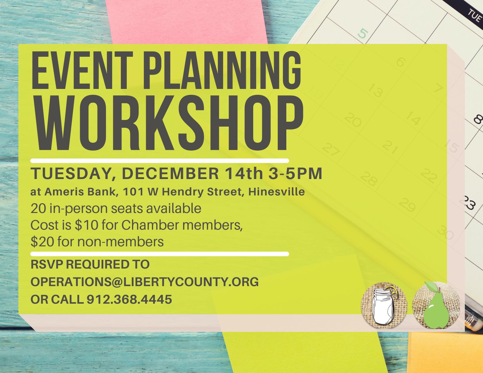 December 2021 Event Planning Workshop